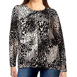 ❤️Croft & Barrow Plus Size Leopard Cardi MSRP $78